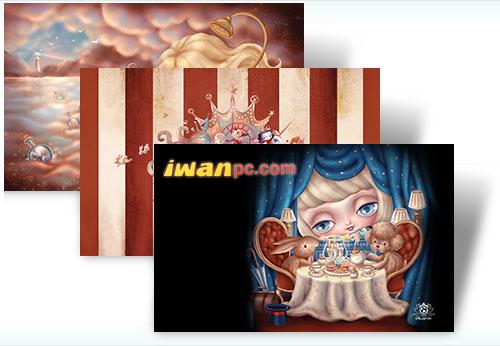 台湾艺术家动画作品的4款 Windows 7 主题发布-动画, 主题, Windows 7