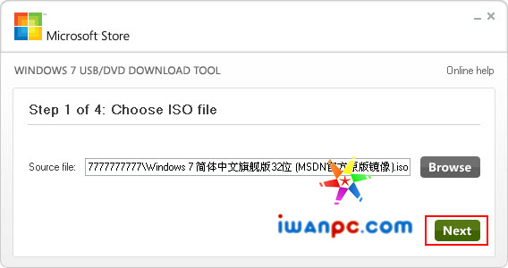 Windows 7 USB/DVD Download Tool官方原版—微软官方将U盘制作成Windows Vista/7安装盘软件-硬盘, 光驱, Windows 7 USB DVD Download Tool, Windows 7, U盘启动, USB