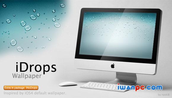 iDrops Wallpaper下载 —nyolc8制作苹果ISO4官方默认壁纸支持多种分辨率-清新壁纸, ISO4官方默认壁纸, iPod Touch 4壁纸, iPhone壁纸, iPhone 4壁纸, iPad壁纸, iDrops Wallpaper, Android壁纸