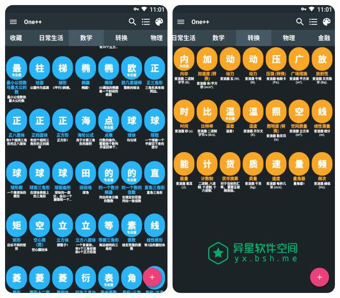One++ Rechner Pro「原Easy4Me」v1.7.5 for Android 直装破解版 —— 不用输入计算公式 / 计算你想知道的一切-面积, 金融, 边长, 转换器, 计算器, 角度, 物理, 数学, 对角线, 体积, One++ Rechner, One++