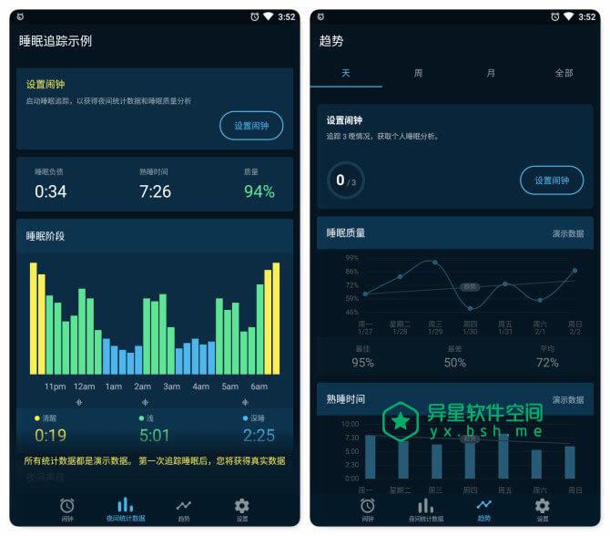 Sleepzy v3.15.0 for Android 直装解锁高级订阅版 —— 智能闹钟和睡眠跟踪器,深入研究睡眠并提高其质量!-闹钟, 跟踪器, 记录器, 睡眠, 监控, 打鼾, 打盹, 唤醒, 健康