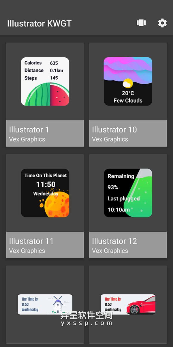 Illustrator widgets v2020.Jul.15.21 for Android 付费版 —— 带有精美插图和图形 KWGT Cool精美窗口小部件集应用-美化, 窗口小部件, 桌面, 小部件集, 小部件, Widgets, KWGT Cool, KWGT