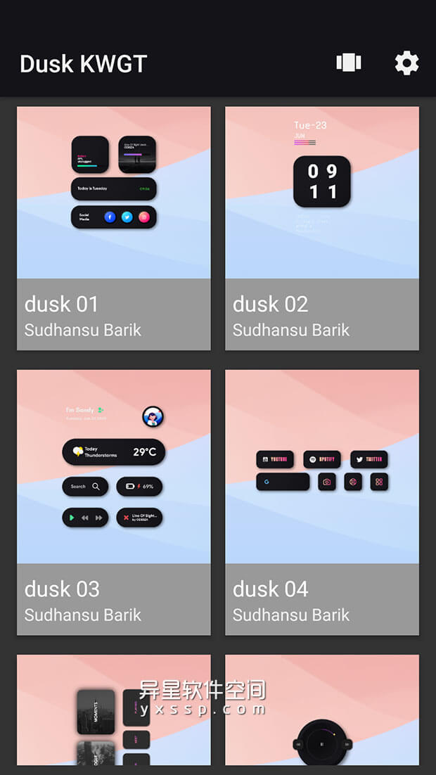 Dusk KWGT v2020.Sep.15.18 for Android 解锁付费版 —— 一款基于 KWGT 的70个精美小部件的组合应用-美化, 窗口小部件, 桌面, 小部件集, 小部件, KWGT, Dusk KWGT